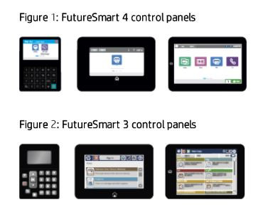 HP Printer Futuresmart Firmware Control Panels