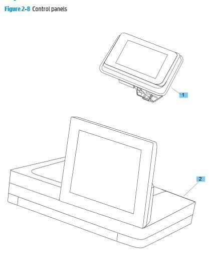 8. HP M680 M651 Control panels printer parts diagram