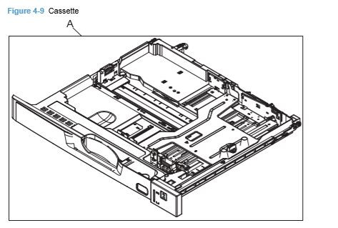 9) HP CP5225 Cassette printer parts diagrams