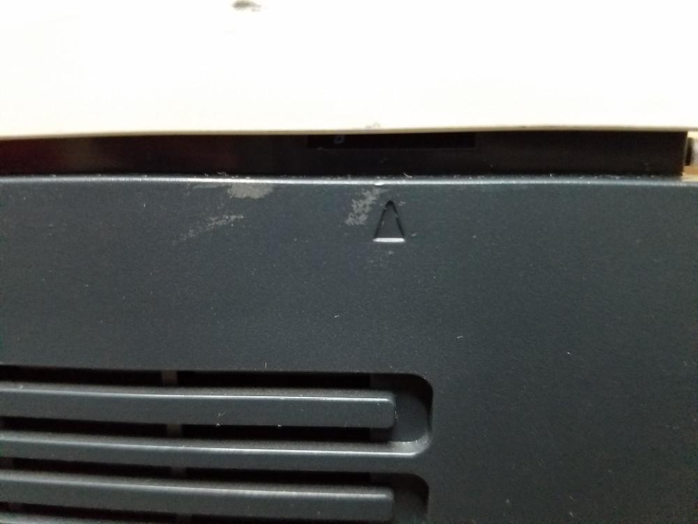 (Fig 1) HP 4025 color printer cover tab locks removal
