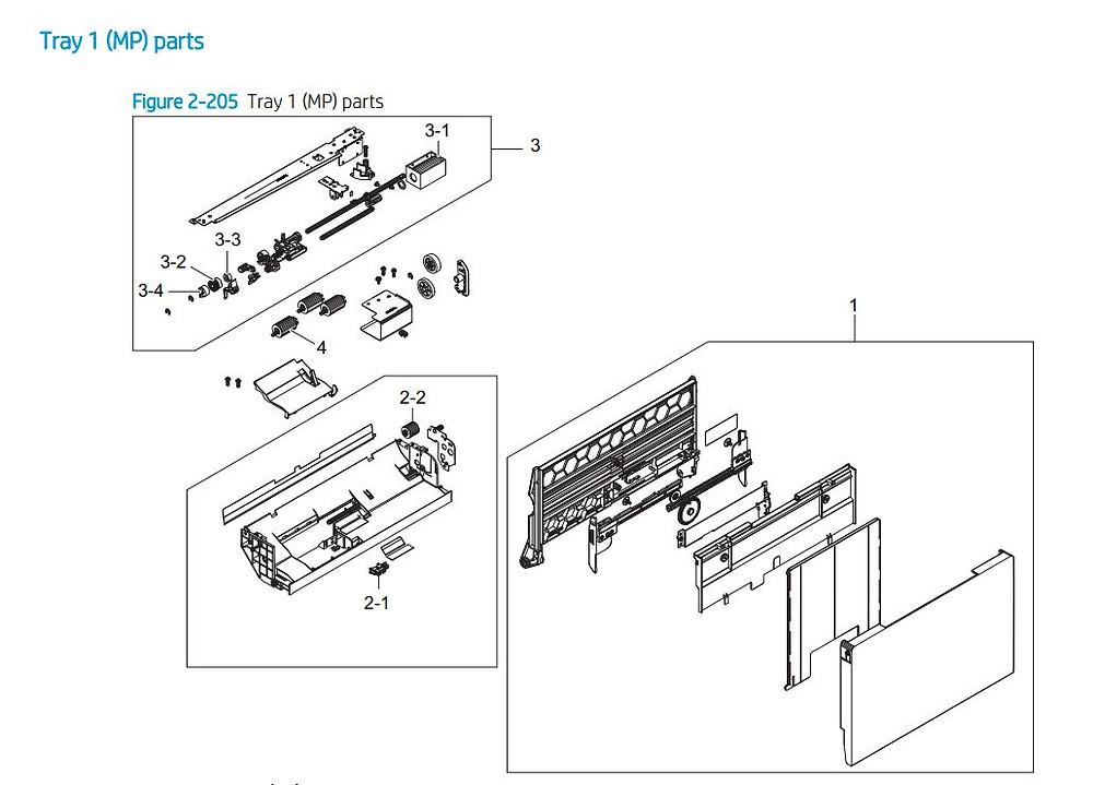 15. HP E72425 E72430 MP parts printer parts diagram