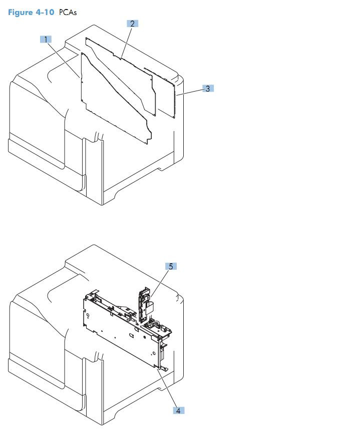 10. HP M551 PCA assembly printer parts diagram