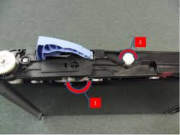 We recommend starting with the transfer belt itself. Remove the belt from the printer. On the right-hand side there is a white round protrusion that engages the belt with the drive assembly. You can rotate this clockwise (2) to rotate the belt and if all goes well, unlock the sensor flag into position (1).