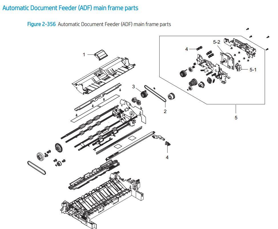 29. HP E77422 E77428 ADF Automatic document feeder printer parts diagram