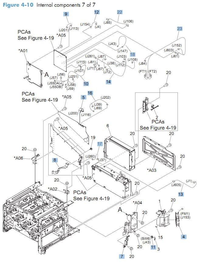 10. HP CM4540 Internal Components 7 of 7 printer parts diagram