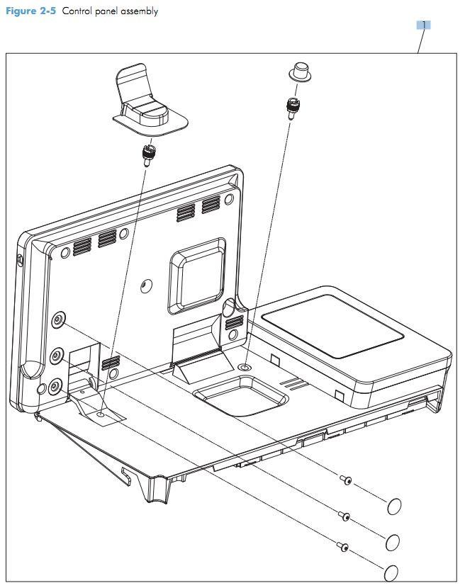3. HP M525 Control panel assemblies printer parts diagram