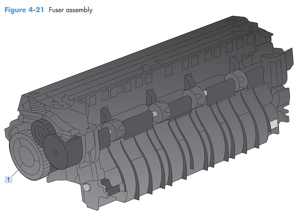 16. HP M4555 Fuser assembly printer parts diagram