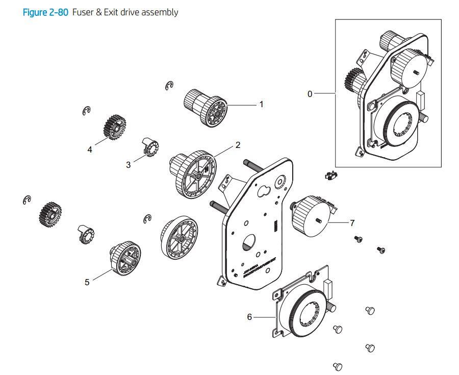 6. HP E77422 E77428 Main engine frame 2 of 2 printer parts diagram