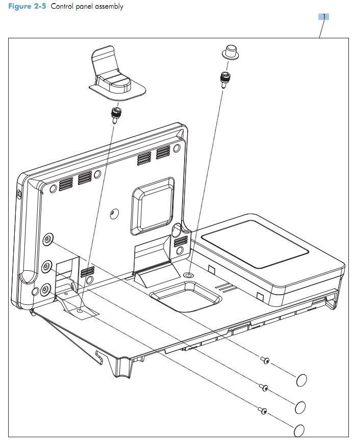 3. HP M575 Control panel assemblies printer parts diagram