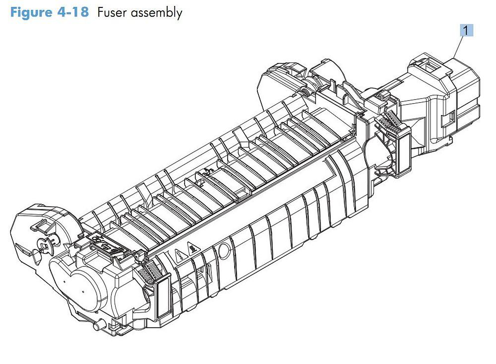 18. HP CM4540 Fuser assembly printer parts diagram