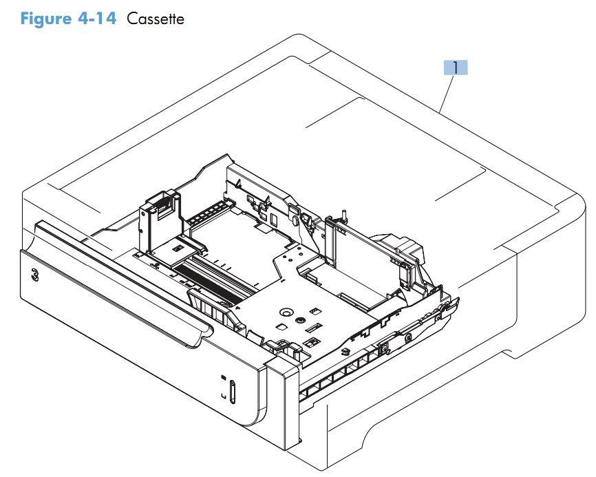 14. HP M551 Paper Cassette printer parts diagram