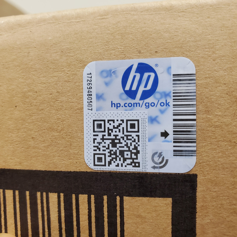 HP M607 Maintenance Kit Holographic Security Label