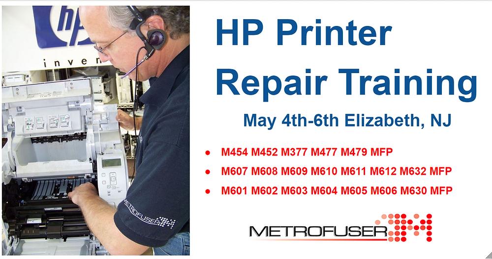 Metrofuser Announces HP Laser Printer Repair Training Classes in NJ