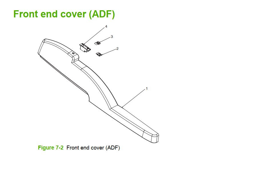 2. M5025 M5035 Front end cover ADF printer part diagrams