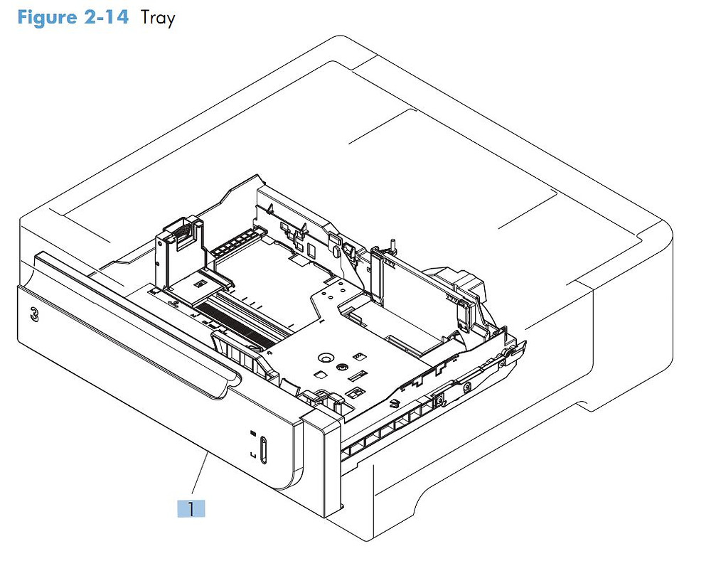 12, HP M570 Paper Tray Cassette printer parts diagram