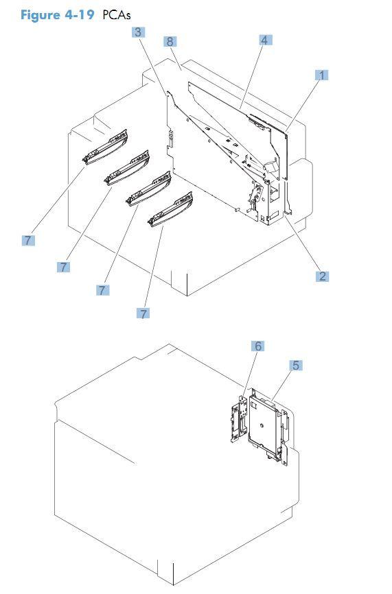 19. HP CM4540 PCA pritned circuit boards printer parts diagram