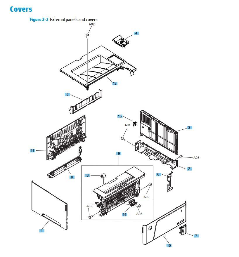 35 Laser Printer Parts Diagram