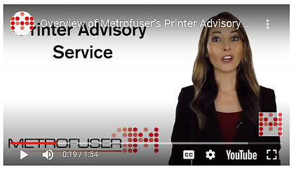How Does Metrofuser's Printer Advisory Service Help Service Organizations. Learn More