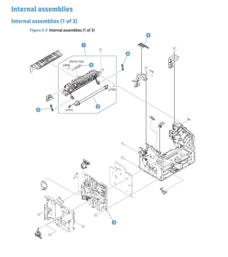 2. HP M225 M226 Internal Assemblies 1 of 3 printer parts diagram
