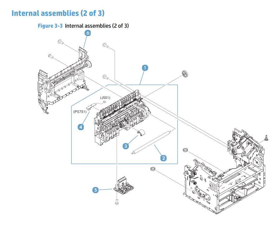 3. HP M225 M226 Internal Assemblies 2 of 3 printer parts diagram