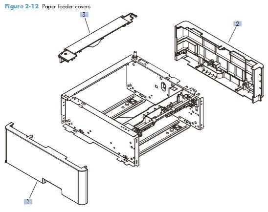 9. HP M401 M425 PCA Paper feeder covers printer parts diagram