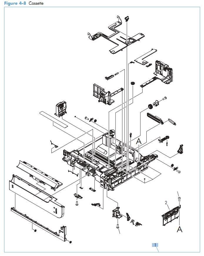 8. HP M551 Cassette printer parts diagram