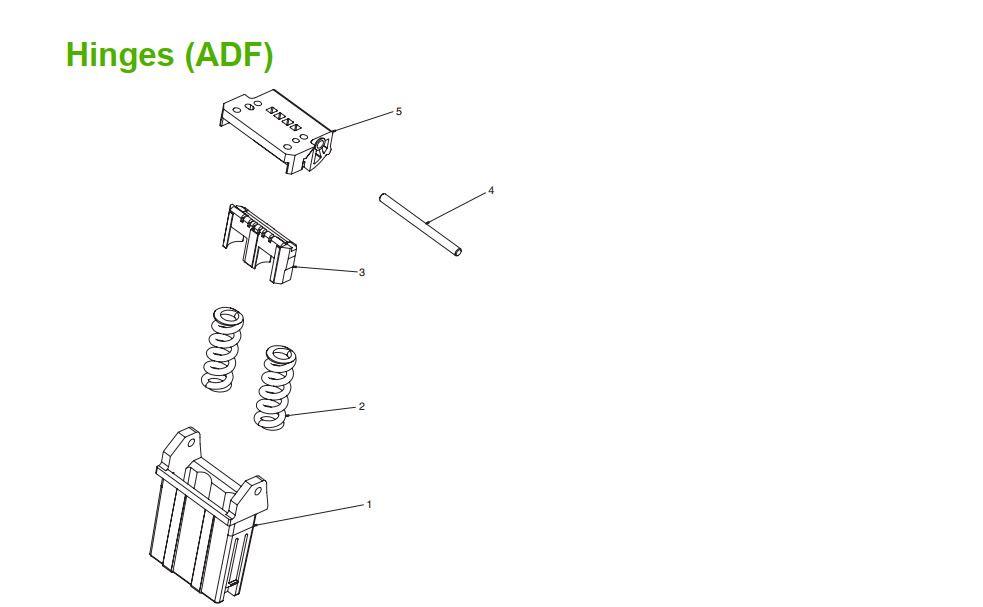 3. M5025 M5035 Hinges ADF printer part diagrams