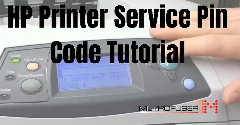 HP Printer Service Pin Code Tutorial. How To Gain Access To The Service Mode In HP Laser Printers