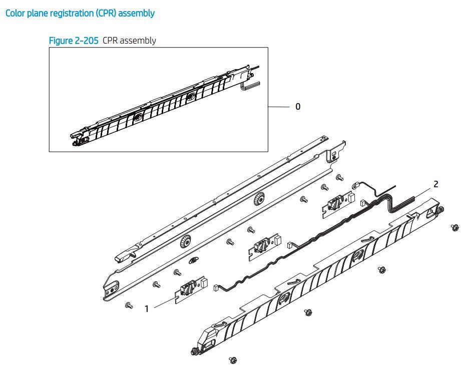 16. HP E77422 E77428 Color plane registration CPR printer parts diagram