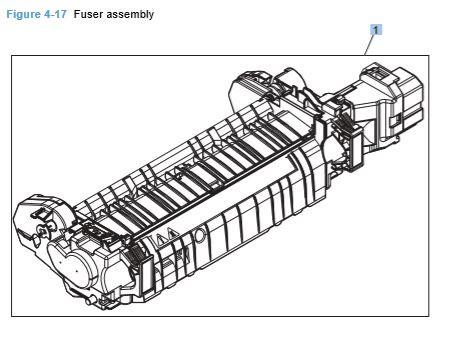 17) HP CP4025 CP4525 Fuser Assembly Printer Diagram
