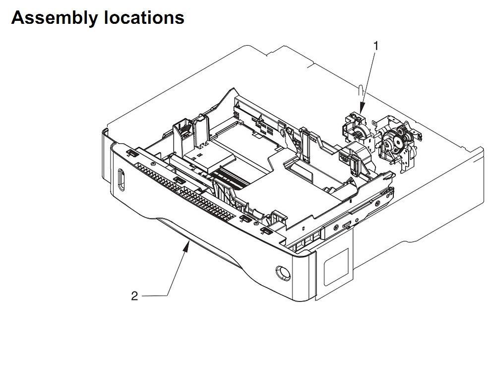 41. HP 4345 Q3942A 4345x Q3943A 4345xs Q3944A 4345xm Q3945A Assembly locations Printer Part Diagrams