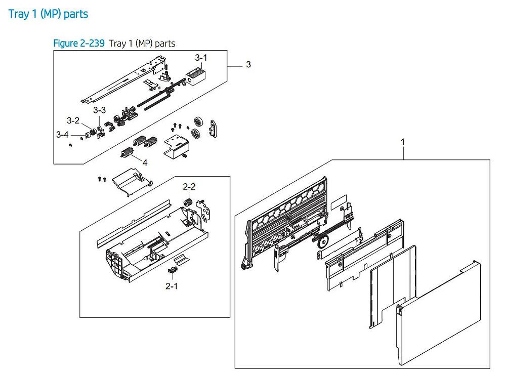 23. HP E77422 E77428 MP Multi purpose printer parts diagram