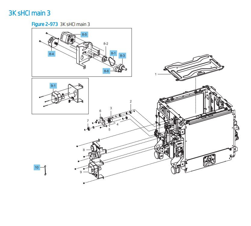 39. HP LaserJet E82540 E82550 E82560 0 3000 sheet sHCI main 3 Printer Parts Diagram