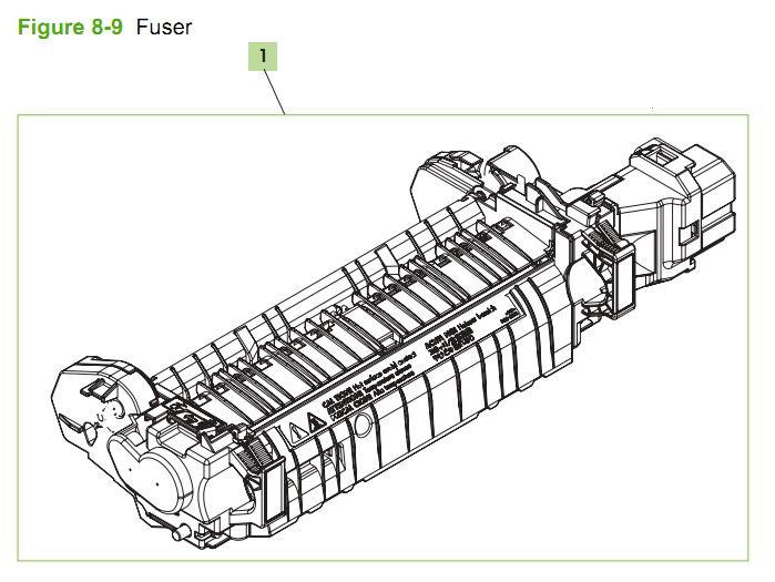 9. HP CM3530 Internal Components 5 of 5 printer parts diagram