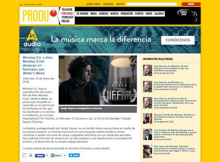Writer's Block featured in Produ's website news