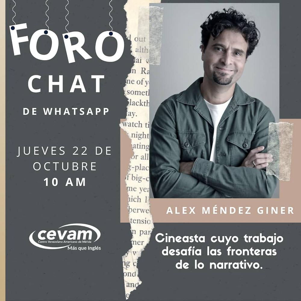 Alex Mendez Giner Artist Talk at Cine Club CEVAM