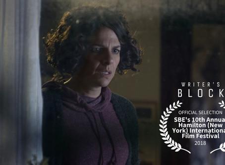 Writer's Block Official Selection at Hamilton International Film Festival in New York