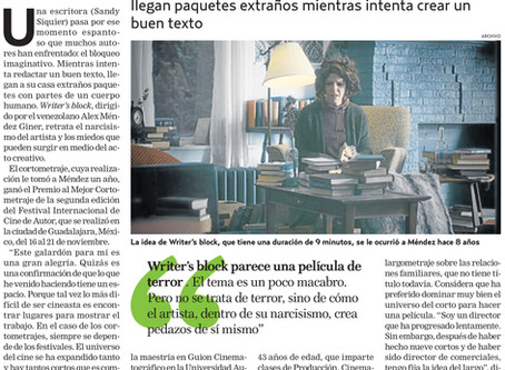Writer's Block featured in Venezuelan Newspaper El Nacional