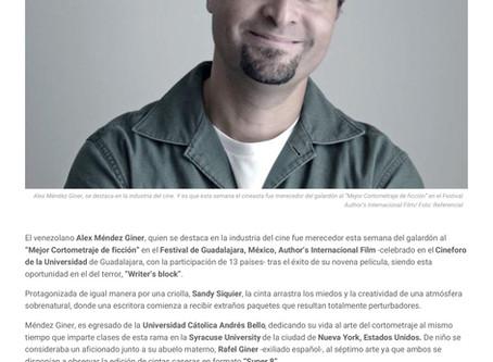 Writer's Block Featured in Various Venezuelan News Outlets.
