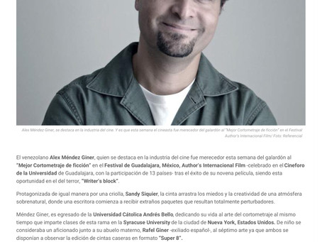 Writer's Block Featured in Various Venezuelan News Outlets.