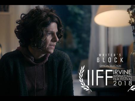 Writer's Block Premieres in California at the Irvine International Film Festival