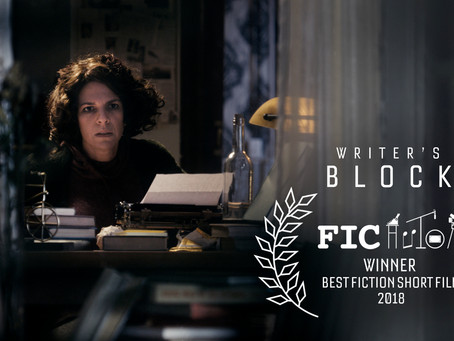 WINNER. Writer's Block Wins Best Fiction Short Film at Author's International Film Festival
