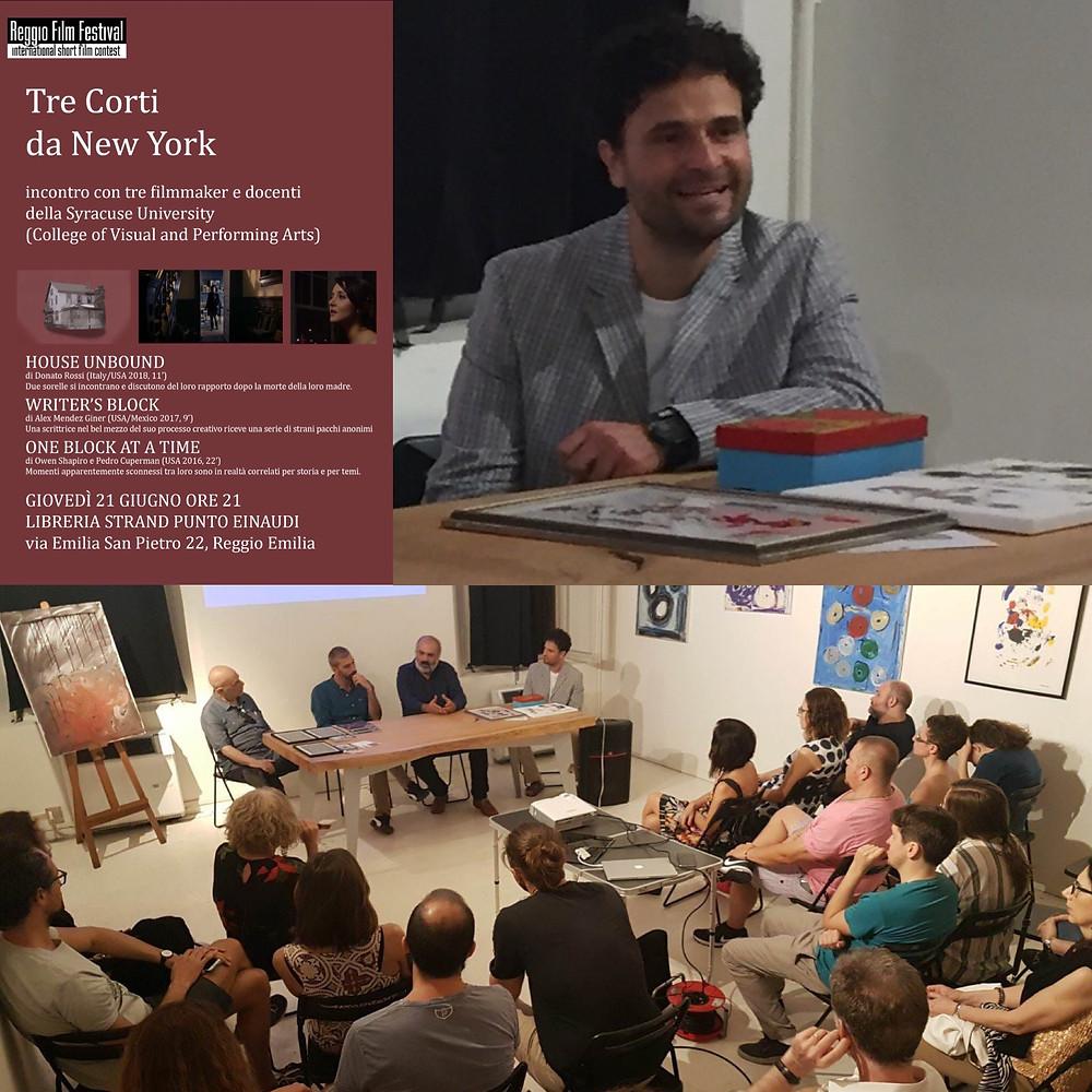 Writer's Block at Reggio Film Festival Special Screening Session