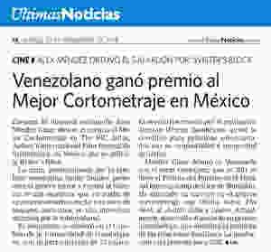 Writer's Block Featured in Últimas Noticias