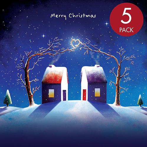 Christmas card x5