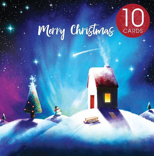 Dreams do come true Christmas card (10 Pack)