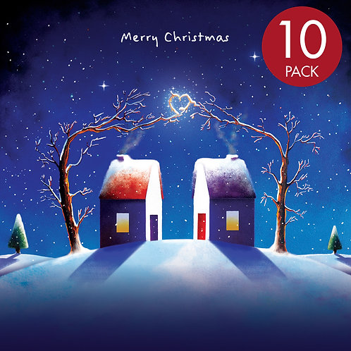 Christmas card x10