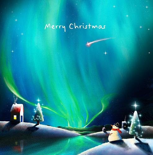 Christmas card (snowman)