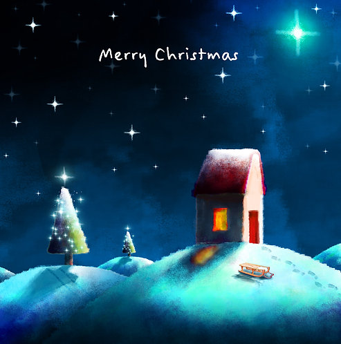 Christmas card (sledging)