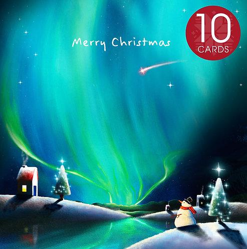 Christmas card (snowman) - 10 cards